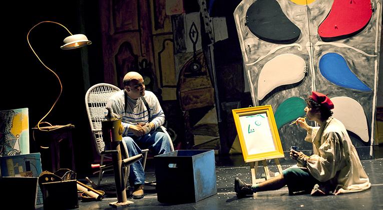 01) O MENINO QUE MORDEU PICASSO - teatro inf.; FABIO ESPOSITO e RODRIGO PAVON - atores; JULIETA BACCHIN - fotógrafa