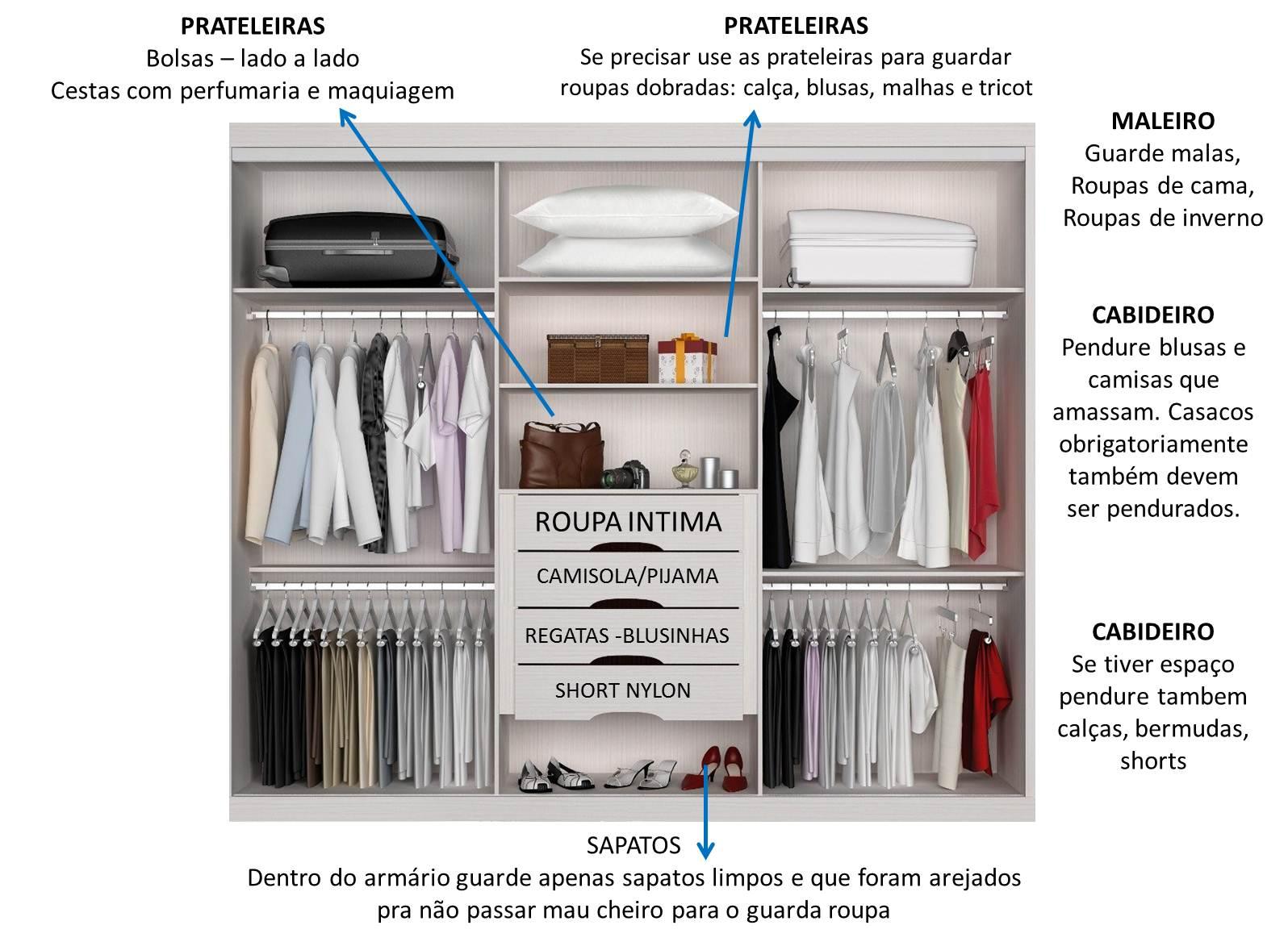 Organiza o de guarda roupas como organizar um guarda roupa pequeno dicas da lucy - Como organizar armarios ...