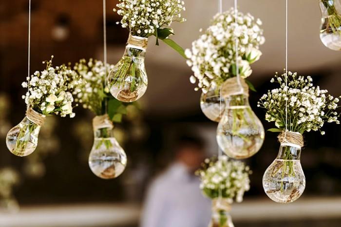 Resultado de imagem para decoração suspensa casamento passo a passo