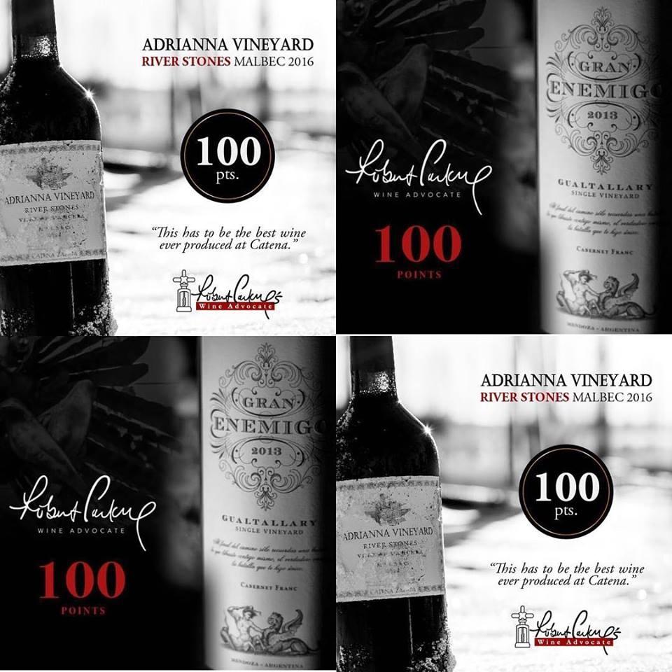 Alejandro Vigil conquista 100 pontos para dois vinhos da
