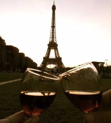 Paris Wine Toast